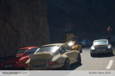 Landslide on R Gruppe Porsche Road Trip