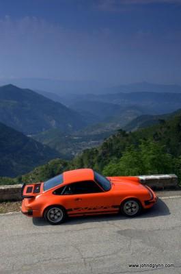 Classic Porsche on Col de Turini