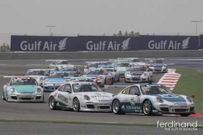 Slippery Porsche Supercup Start in Bahrain
