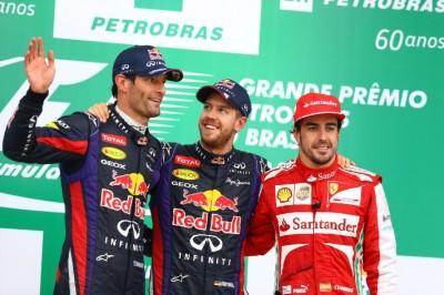 Mark Webber Brazil Podium