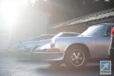 Classic Porsche 911 Winter Driving