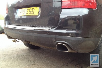 Porsche Cayenne crash bodywork damage