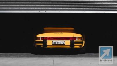 Yellow Porsche 911 Carrera 3.0 Targa 2