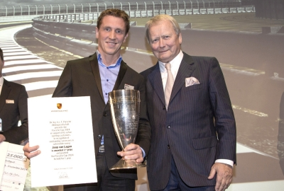 Jaap van Lagen with Wolfgang Porsche