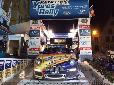 Podium Ypres Rally Delecour